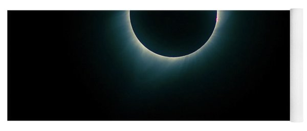 Yoga Mat featuring the photograph Eclipse Wyoming by Rikk Flohr