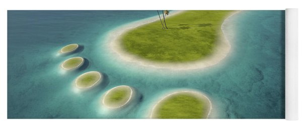 Eco Footprint Shaped Island Yoga Mat