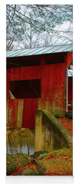 Ecther Covered Bridge Near Catawissa, Pa Yoga Mat