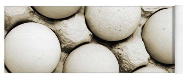 Edgy Farm Fresh Eggs Yoga Mat