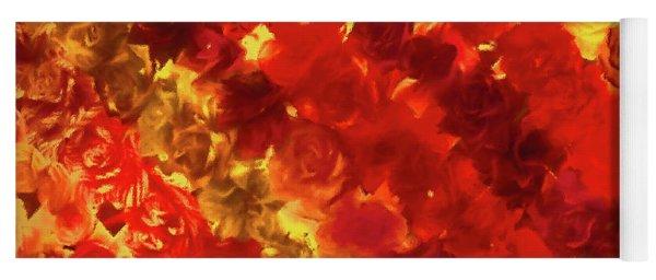 Edgy Flowers Through Glass Yoga Mat