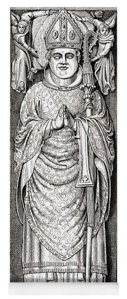 Effigy Of William Of Wykeham On His Yoga Mat