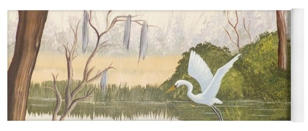 Egret In Flight 1 Yoga Mat