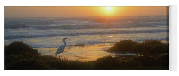 Egret Sunrise 10-7-17 Yoga Mat