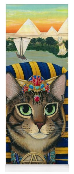Egyptian Pharaoh Cat - King Of Pentacles Yoga Mat