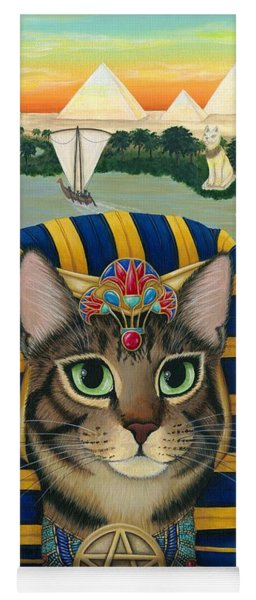 Egyptian Pharaoh Cat - King Of Pentacles Yoga Mat