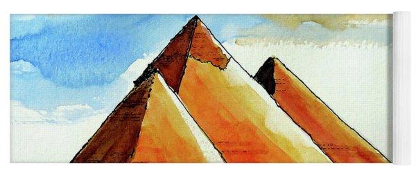 Egyptian Pyramids Yoga Mat