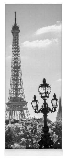 Eiffel Tower And Bridge Alexandre IIi Yoga Mat