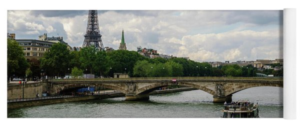 Eiffel Tower And The River Seine Yoga Mat