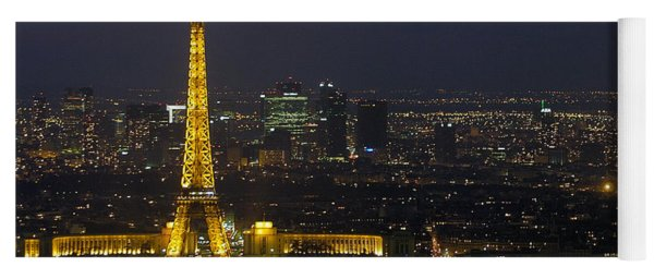 Eiffel Tower At Night Yoga Mat