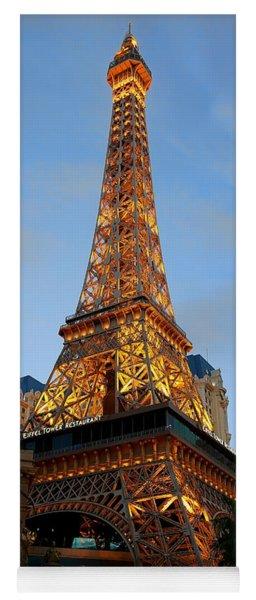 Eiffel Tower In Vegas At Dusk Yoga Mat