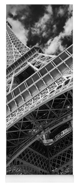 Eiffel Tower Infrared Abstract Yoga Mat