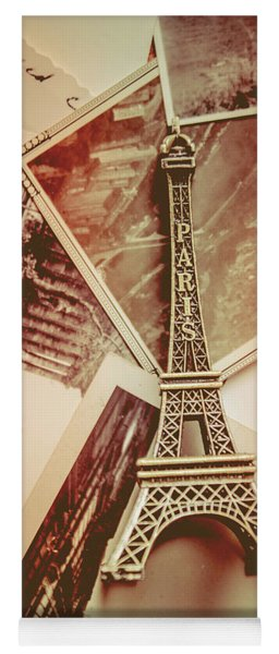 Eiffel Tower Old Romantic Stories In Ancient Paris Yoga Mat