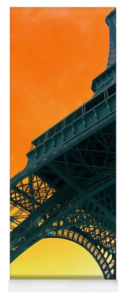 Eiffel Tower Pop Art Yoga Mat