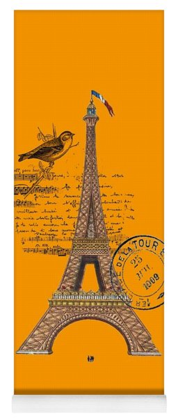 Eiffel Tower T Shirt Design Yoga Mat