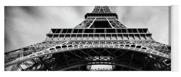 Yoga Mat featuring the photograph Eiffelt Tower From Below - Paris by Barry O Carroll