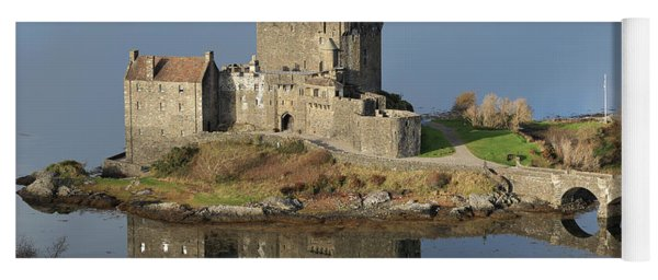 Eilean Donan Castle Reflections Yoga Mat