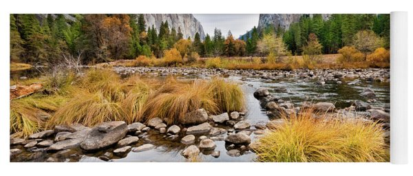 El Capitan And The Merced River In The Fall Yoga Mat