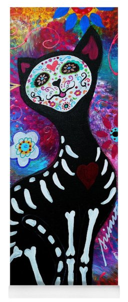 El Gato II Day Of The Dead Yoga Mat