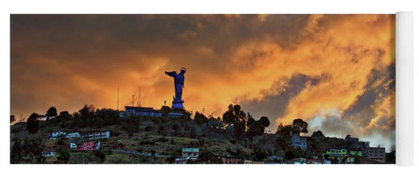 El Panecillo At Sunset - Quito, Ecuador Yoga Mat