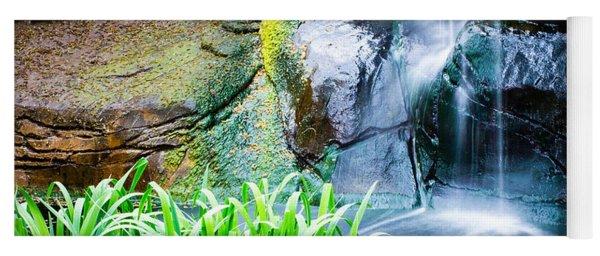El Paso Zoo Waterfall Long Exposure Yoga Mat