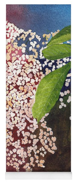 Elderberry Blossom In Watercolor Yoga Mat