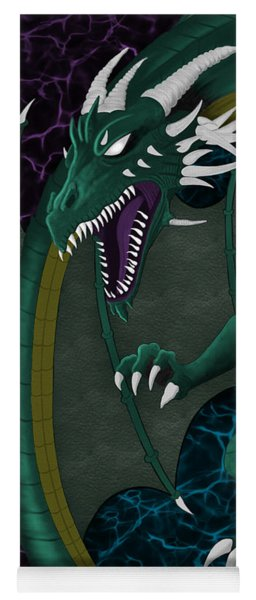 Electric Portal Dragon Yoga Mat