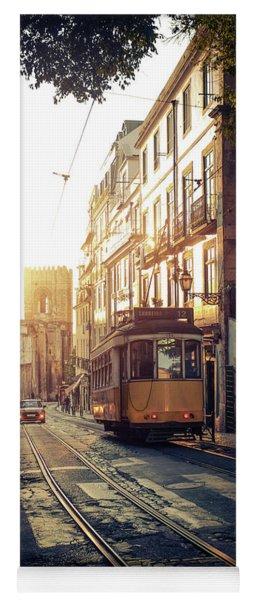 Electric Tram In Lisbon Yoga Mat