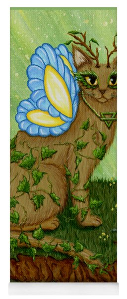 Elemental Earth Fairy Cat Yoga Mat