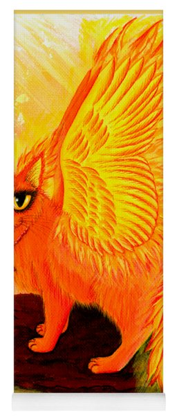 Elemental Fire Fairy Cat Yoga Mat