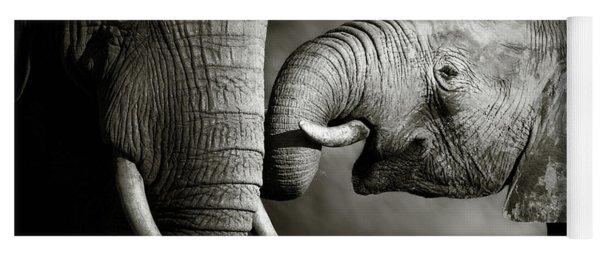 Elephant Affection Yoga Mat