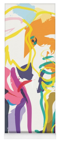 Elephant In Color Ecru Yoga Mat