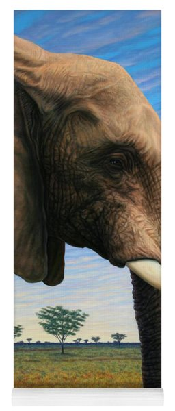 Yoga Mat featuring the painting Elephant On Safari by James W Johnson