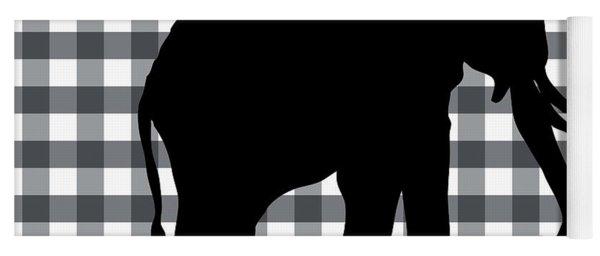 Elephant Silhouette Yoga Mat
