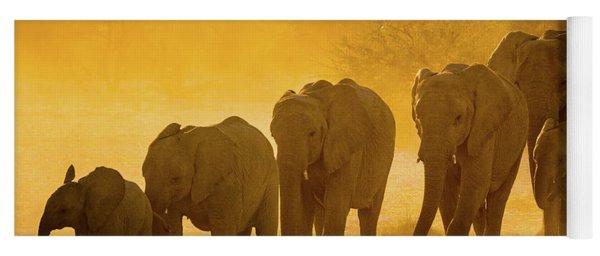 Elephant Sunset Yoga Mat