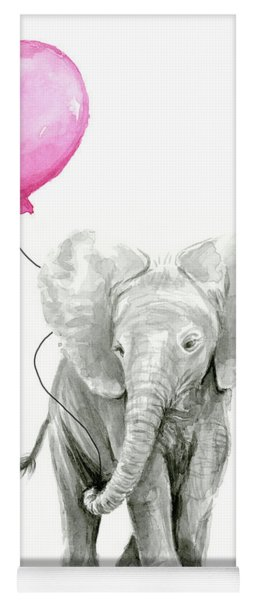 Baby Elephant Watercolor  Yoga Mat