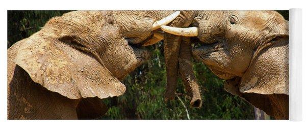 Elephants At Play Yoga Mat