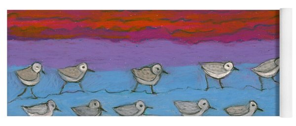 Yoga Mat featuring the painting Eleven Pipers Piping by Denise Weaver Ross