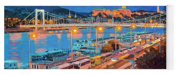 Elisabeth Bridge With Lights Yoga Mat