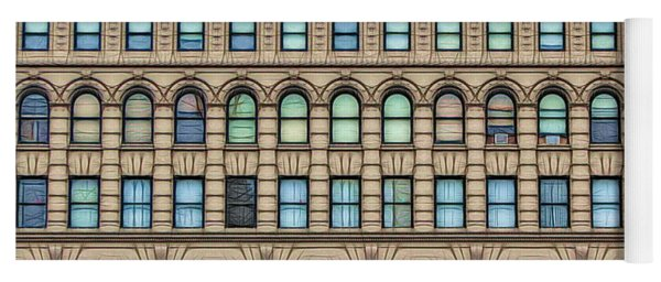 Ellicott Square Building Buffalo Ny Ink Sketch Effect Yoga Mat