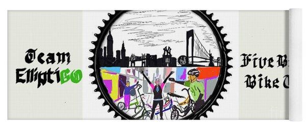 elliptiGO meets the 5 boros bike tour Yoga Mat