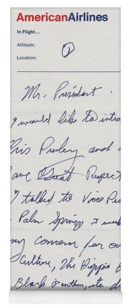 Elvis Presley Letter To President Richard Nixon Yoga Mat