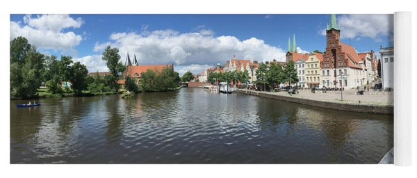 Embankment Of Trave In Luebeck Yoga Mat
