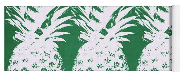 Emerald Pineapples- Art By Linda Woods Yoga Mat