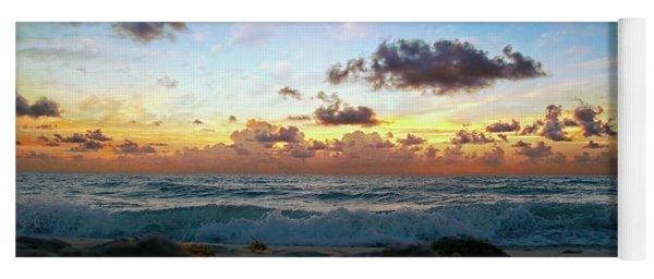 Emerald Sunset  Seascape 141a Yoga Mat