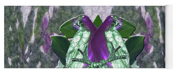 Yoga Mat featuring the photograph Eminece Magnolia Parrots by Rockin Docks Deluxephotos