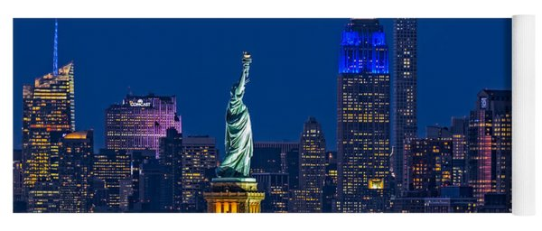 Empire State And Statue Of Liberty II Yoga Mat