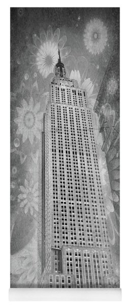 Yoga Mat featuring the photograph Empire State Building by Angie Tirado