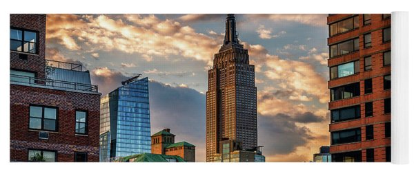 Empire State Building Sunset Rooftop Yoga Mat