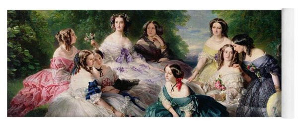 Empress Eugenie Surrounded By Her Ladies In Waiting Yoga Mat
